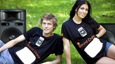 Orange T-Shirts Recharge your Phone
