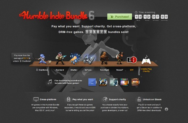 HumbleBundle 6 Available for Purchase