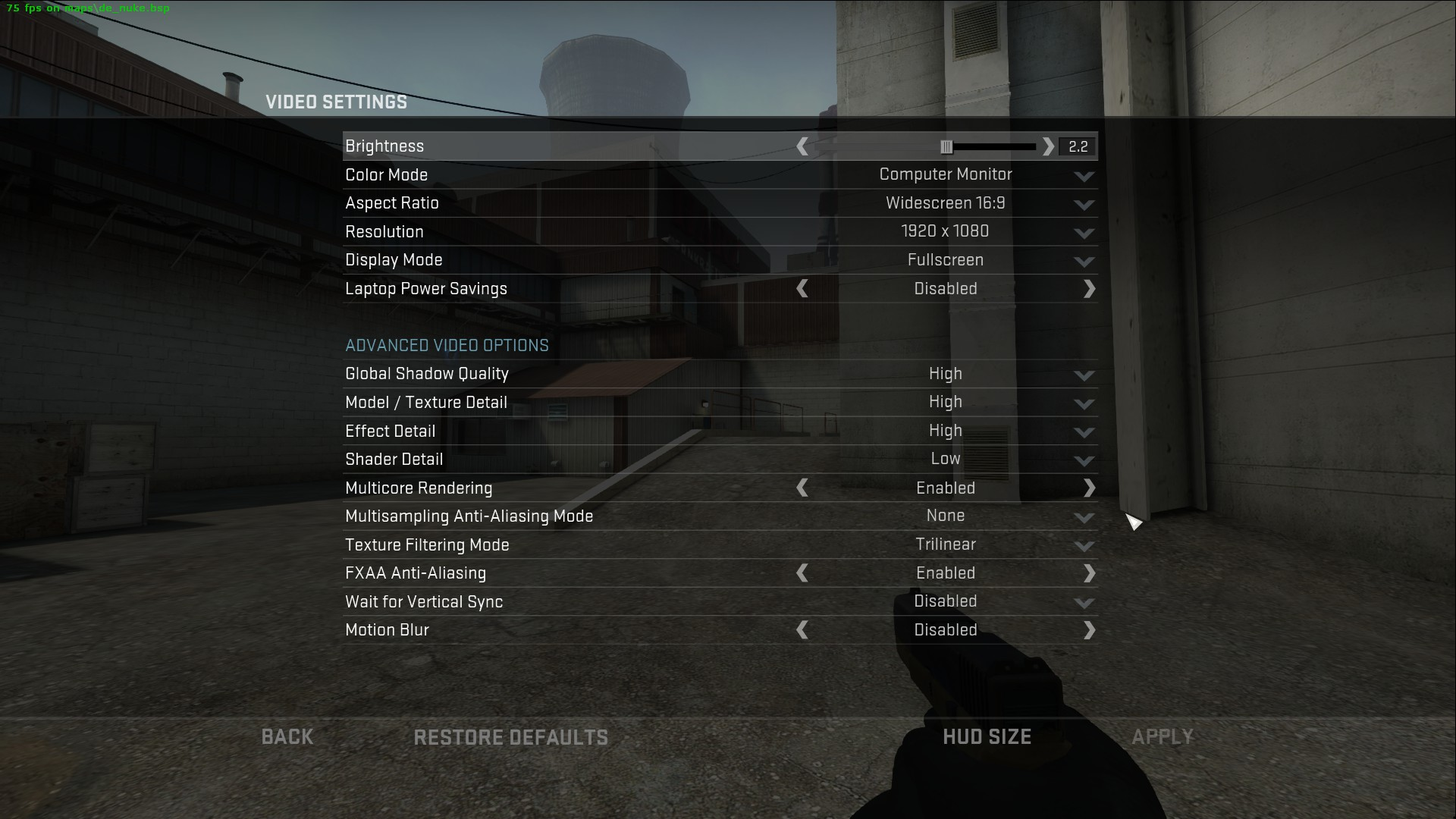 60+ fps at these settings - not bad!