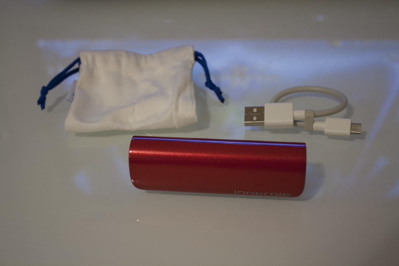 The PocketCell comes with a bag and short micro USB cable.