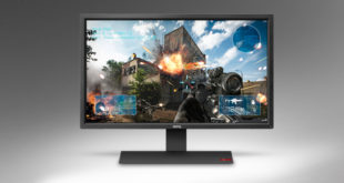 The BenQ RL2755 is a stylish gaming monitor, measuring 27 inches along the diagonal.