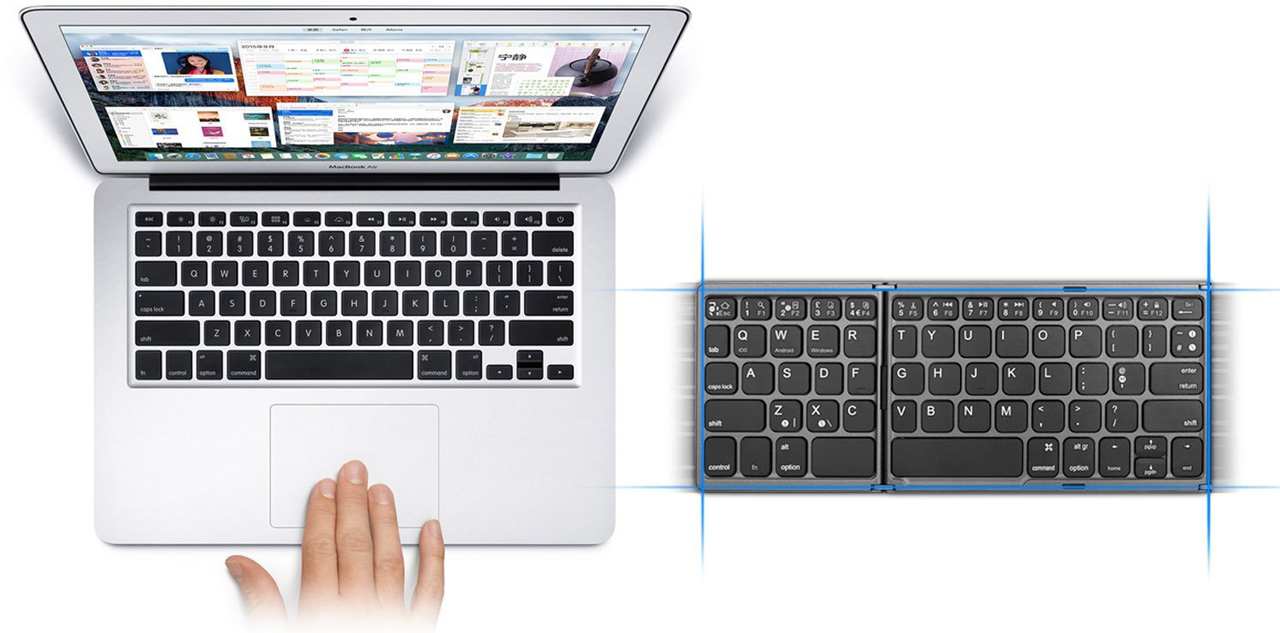 Jelly Comb Bluetooth Keyboard with Touchpad review