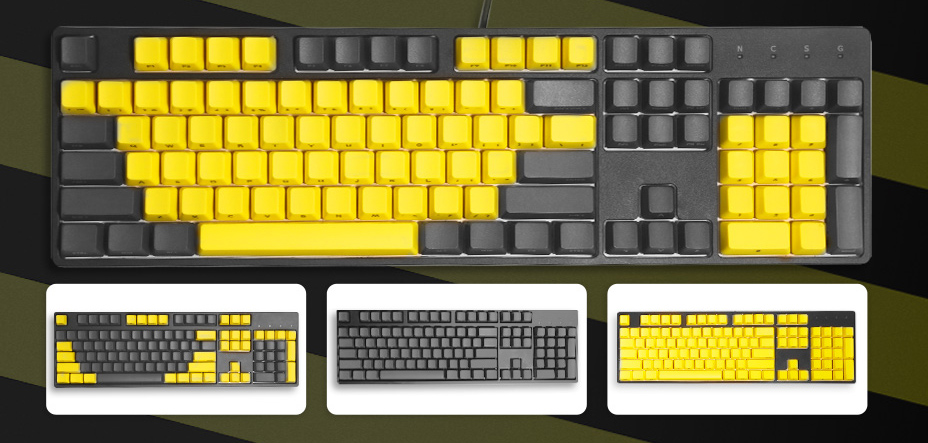 Drevo 104-Key yellow & grey PBT keycaps review - Review